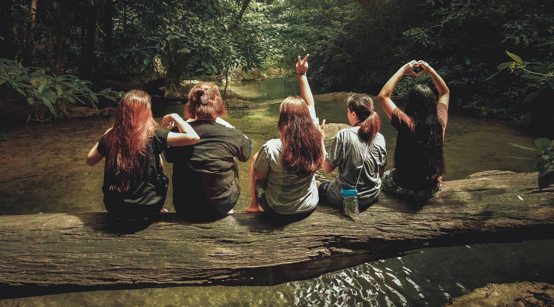 Youth at a river